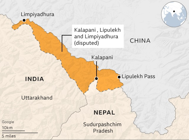 Disputed Map of Nepal