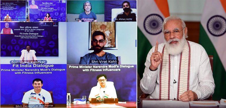 फिट इंडिया मूवमेंट 2020: एक साल पूरा, पीएम ने विराट सहित कई सेलेब्स से की बात