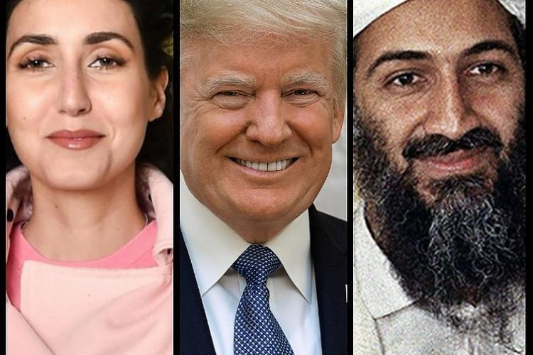 डोनाल्ड ट्रंप के समर्थन में कुख्यात आतंकवादी और अलकायदा प्रमुख ओसामा बिन लादेन की भतीजी नूर