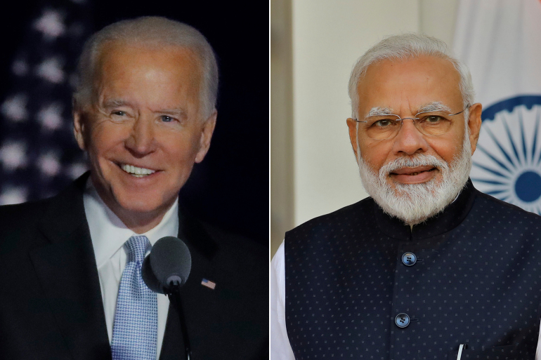 Joe Biden and Narendra Modi