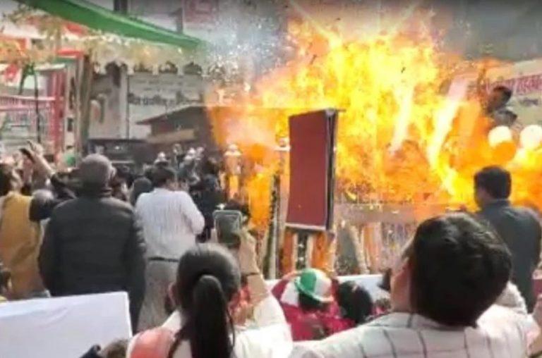 हरियाणाः रोहतक में कार्यक्रम में एयर बैलून ने पकड़ी आग, पूर्व मंत्री सहित 6 लोग बाल-बाल बचे